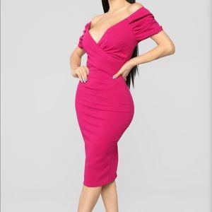 Fashion nova off the shoulder midi dress